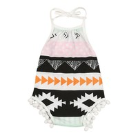 Baby Girls Aztec print Sleeveless romper