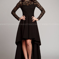 special occasion woman dress, Evening gown, Formal Dress, Dress lace, Maxi dress, Black Dress , Sexy Dress, Evening dress, Long Sleeve dress