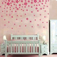 Pink Flower Wall Sticker Decal Nursery and Girl's Room