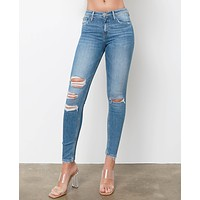 Simply Feels Skinny Jeans - Denim Blue