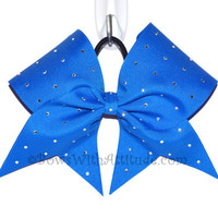 3 Wide Luxury Cheer Bow     Royal Blue by BowsWithAttitude on Etsy
