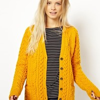 Fred Perry | Fred Perry British Knitting Aran Cardigan at ASOS