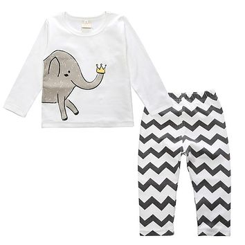 Baby Boy Clothing Set Spring Baby Girl Clothes Children Clothing Infant Baby Home Clothes Kids T-shirt Pants
