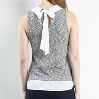 Layered Collor Knit Top