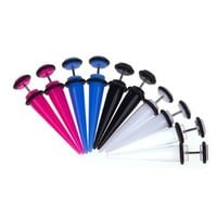 Lot of 8 Pieces Multi-Color Acrylic Fake Tapers Kit 0G Gauges Look (4 Pairs)