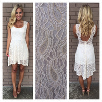 Princess Buttercup Paisley Lace Dress