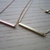 gold,silver,rose gold Horizontal bar necklace, matte crossbar,high-quality,gift for you or friends,Wedding gifts, bridesmaid necklaces
