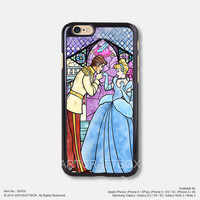 Cinderella Disney Princess Stained Glasses iPhone Case Black Hard case 439