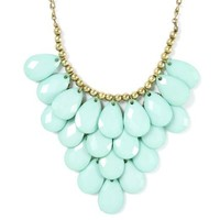 Layered Teardrops and Antique Gold Bead Statement Necklace  | Icing