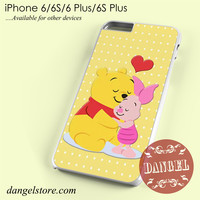 Pooh And Piglet Hugging Phone case for iPhone 6/6s/6 Plus/6S plus