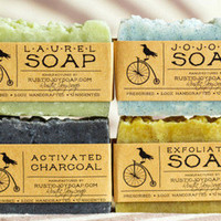 ACNE SPA SOAP - Set - 4 natural soap,homemade soap,handmade soap,vegan soap,skin&hair care soap.