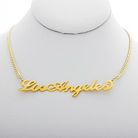 Los Angeles Nameplate Necklace