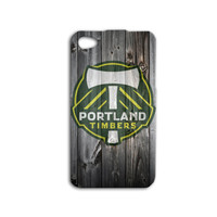 Portland Timbers Phone Case Soccer iPod Case Sport iPhone Case Wood Case iPhone 4 iPhone 5 iPhone 4s iPhone 5s Cute iPod 5 Case iPod 4 Case