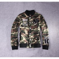 Sports Hot Deal On Sale Jacket Korean Couple Camouflage Embroidery Baseball [10507737543]