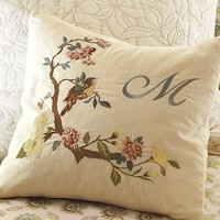 Arianne Embroidered Pillow Cover   Pottery Barn