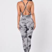 Dance With Me Jumpsuit - Grey