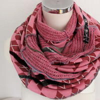 Male pink scarf, Male Unique Scarf, male long shawl, Male boho scarf, pink men's scarf, Men's wool scarf, Men's Valentine's gift