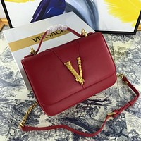 Versace Fashion Women Shopping Bag Leather Handbag Shoulder Bag Satchel Crossbody