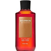 Bath & Body Works BOURBON Men's 2-in-1 Hair & Body Wash 10 oz