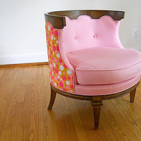 Sale - Mid Century Pink Chair, 1960's Occasional Chair, Designer Bedroom Chair, Mid Century Chair, Custom Christmas Gift For Daughter Wife