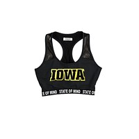University of Iowa Racerback Sporty Bralette