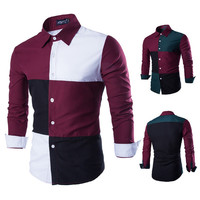 Color Blocked New Design Men's Shirt