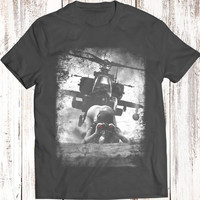 BlackHawk Military Helicopter  T Shirt