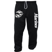US Marines USMC Sweatpants Black Large