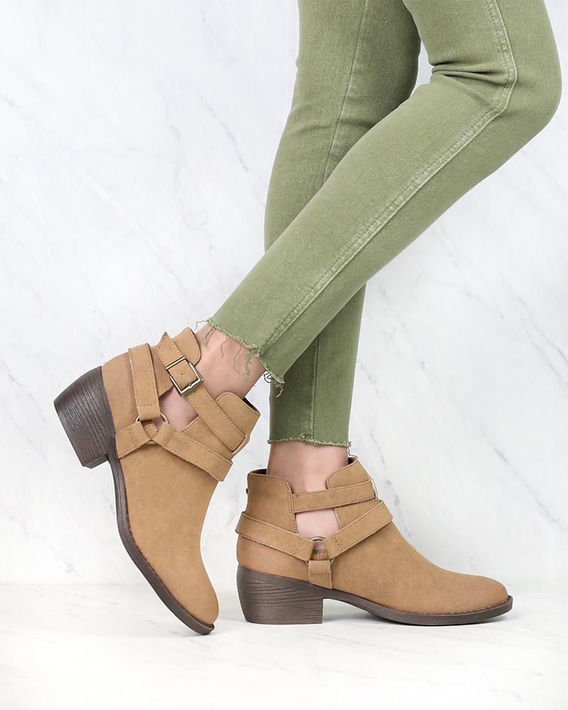 Image of BC Footwear - Communal Cut Out Ankle Booties in More Colors