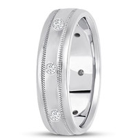 0.24ctw Diamond 14K Gold  Wedding Band (7mm) - (F - G Color, SI2 Clarity)