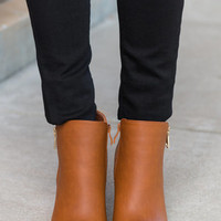 On The Road Again Booties, Tan