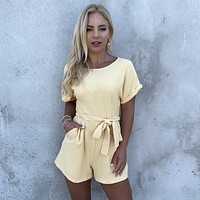 Summer Days Yellow Cocktail Romper