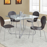Bentwood / Chrome Dining Chairs Cappuccino (Set Of 4)