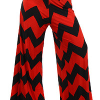 Chevron womens plus size palazzo pants