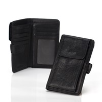 Leather Men Apple Phone Multi-function Leather Case [9026279427]