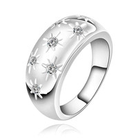 silver plated ring jewelry,start on start ring
