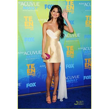 Selena Gomez Short High Low Prom Dress Cocktail Celebrity Dress Teen Choice Awards 2011