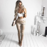 High Waist Tight  Elegant Women Harem Pants