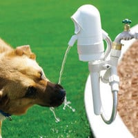 The Dog Activated Outdoor Fountain - Hammacher Schlemmer