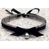 Kittenplay Petplay BDSM Collar-Kitten Day Collar- Pet/Kitten Gear-Grey Collar Choker- DDLG Little Girl