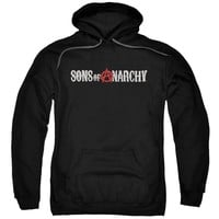 Sons Of Anarchy - Beat Up Logo Adult Pull Over Hoodie
