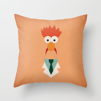 The Muppets Show Vintage Art Beaker Retro Style Minimalist Poster Print Throw Pillow by The Retro Inc