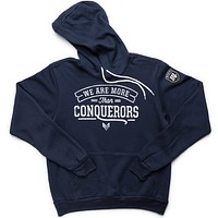 More Than Conquerors Hoodie - Navy