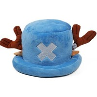 Blue Tony Tony Chopper One Piece Anime Plush Hat