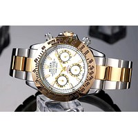 Rolex 2019 new men and women models high-end wild quartz watch white