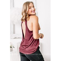 Work For It Open Overlay Back Tank Top