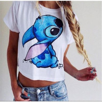 Disney Stitch Crop Top Shirt