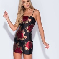 Brocade Body-Con Mini Dress