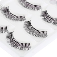 5 Pairs Natural Sparse Cross Eye Lashes Extension Makeup Long False Eyelashes cilios posticos Free Shipping