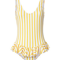 Tinos Polka Dot Striped One Piece Swimsuit